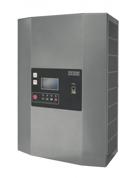Q-Batteries energiebesparende hoogfrequente lader 48V 60A door S.P.E. Charger GREEN4-1-fase 230V zon