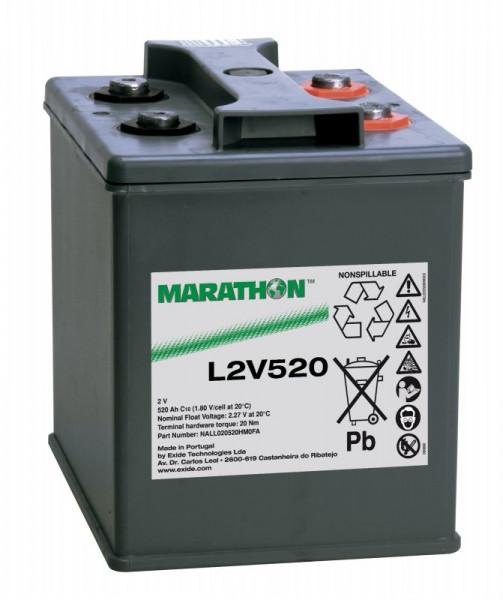 Exide Marathon L2V520 2V 520 Ah AGM loodaccu VRLA