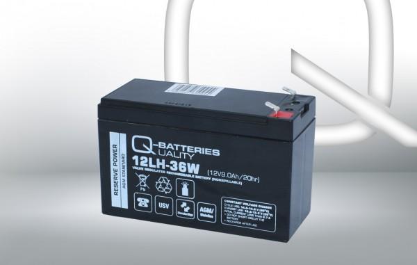 Q-Batteries 12LH-36 W 12V 9 Ah lood non spillable accu AGM VRLA Hoge stroom UPS