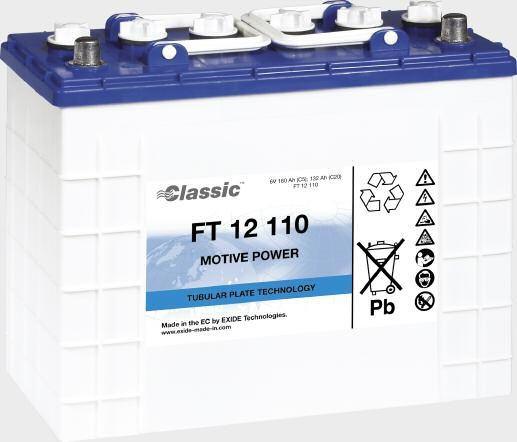 Exide Classic FT 12 110 tractiebatterij 12 Volt 110 Ah (5h) met PzS-platen