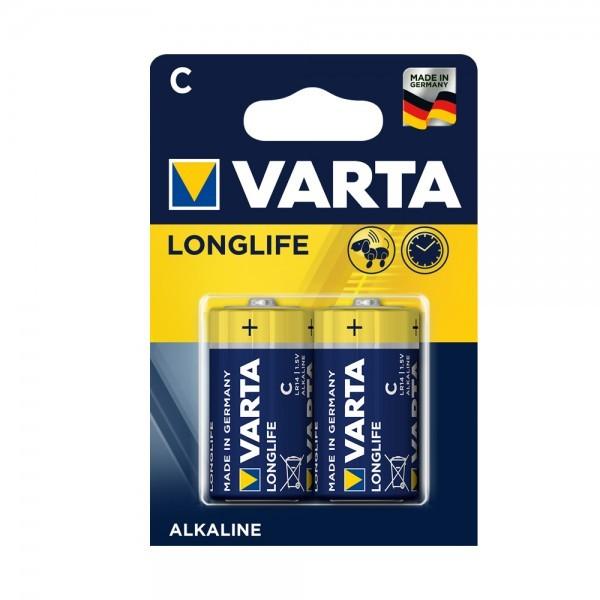 VARTA Longlife Baby C batterij 4114 LR14 (2 blisterverpakking)