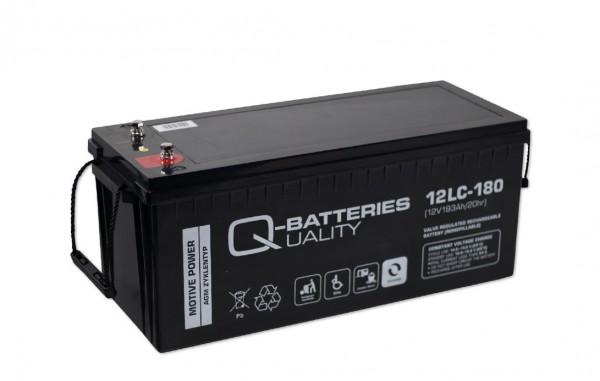 Q-Batteries 12LC-180/12V – 193 Ah lood accu cyclus type AGM – Deep Cycle VRLA