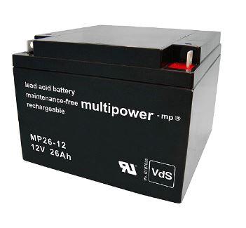 Multipower MP26-12/12V 26 Ah lood batterij AGM met VdS goedkeuring