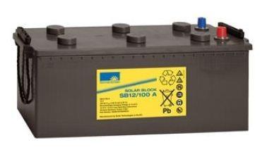 Exide Sonnenschein Solar Block SB12/100 A 12V 100 Ah (C100) dryfit loodgel accu/lood accu