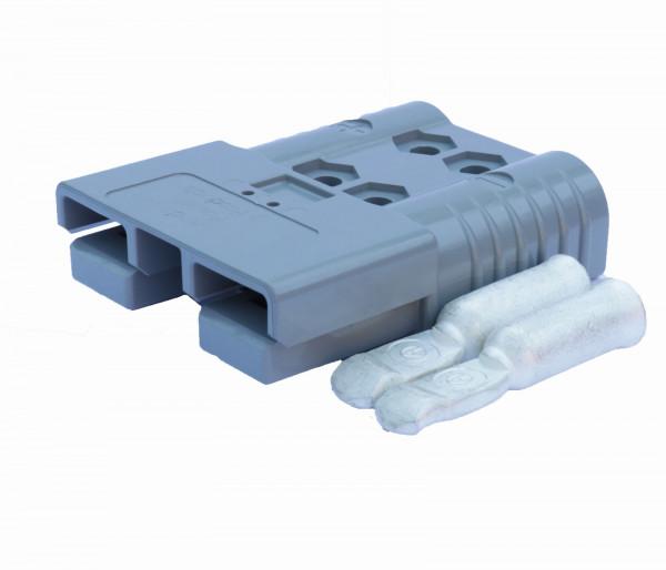 Anderson platte stekker SBE 160A grijs, stekker incl. 2 hoofdcontacten, 36V, 50 mm² (of vergelijkbaa