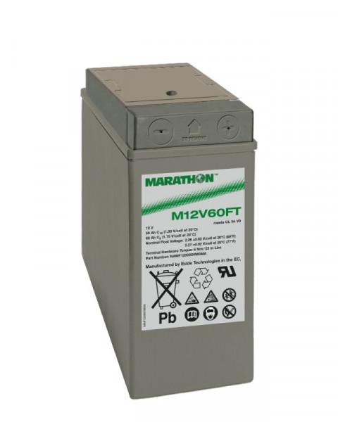 Exide Marathon M12V60FT 12V 59 Ah UL94-V0 frontterminal AGM lood non spillable accu VRLA