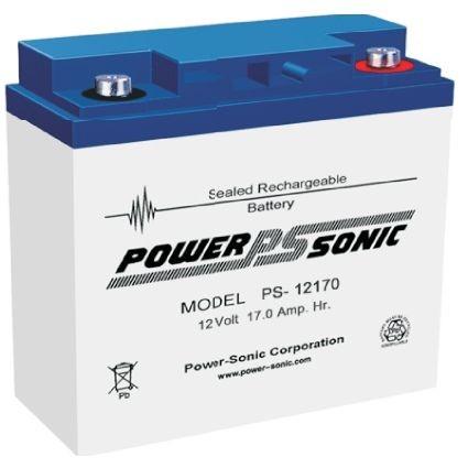 Powersonic 12V 17 Ah lood non spillable accu AGM VRLA PS 12170 VdS