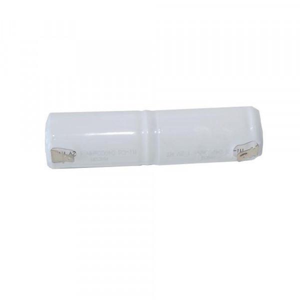 Batterij pack 2,4V 4000mAh staaf NiCd L2x1 2xD hoge temperatuur cellen Faston +6,3/-4,8 mm