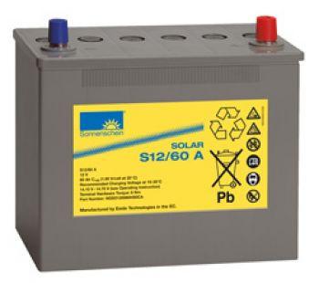 Exide Sonnenschein Solar S12/60 A Lead Gel Battery 12V 60 Ah