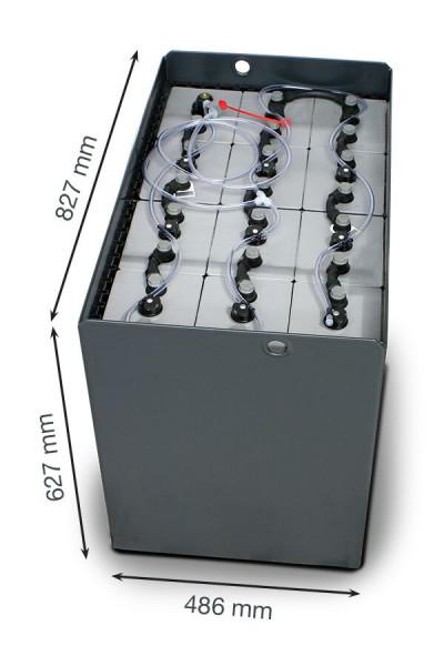 Q-Batteries 24V vorkheftruck accu 8 PzS 920 Ah DIN A (827 * 486 * 627 mm L/B/H) caja de acero 570140