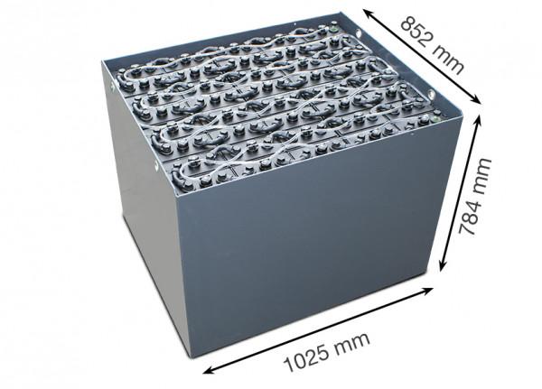 Q-Batteries 80V vorkheftruck accu 5 PzS 775 Ah DIN A (1025 * 852 * 784 mm L/B/H) caja de acero 57019