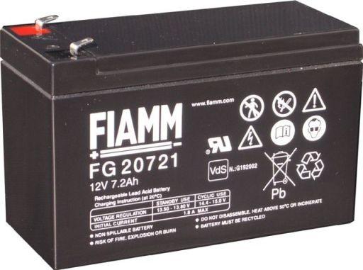 FIAMM FG20721 12V 7,2 Ah loodaccu/loodaccu/AGM lood non spillable VdS