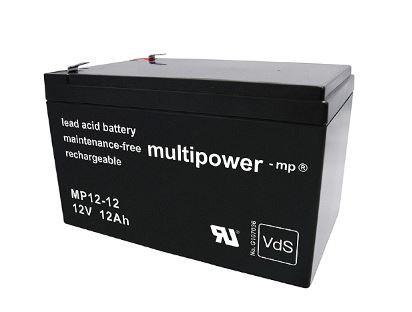 Multipower MP12-12/12V 12 Ah loodbatterij met VdS-goedkeuring