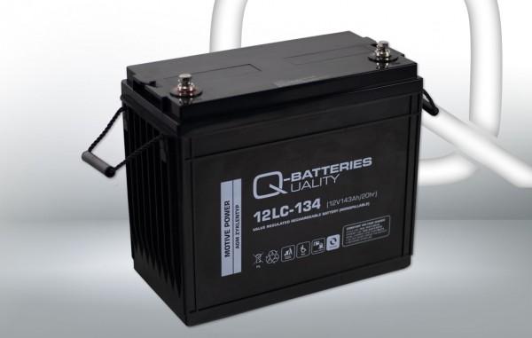 Q-Batteries 12LC-134/12V – 143 Ah lood accu cyclus type AGM – Deep Cycle VRLA