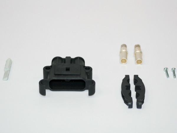 REMA kan Euro Din 80A koppeling 25 mm² (coderingsspeld grijs, hoofdcontact, stamverlichting)