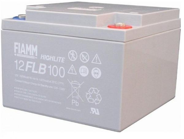 FIAMM HIGHlite 12FLB100P 12V 26 Ah AGM lood non spillable 10-12 jaar batterij