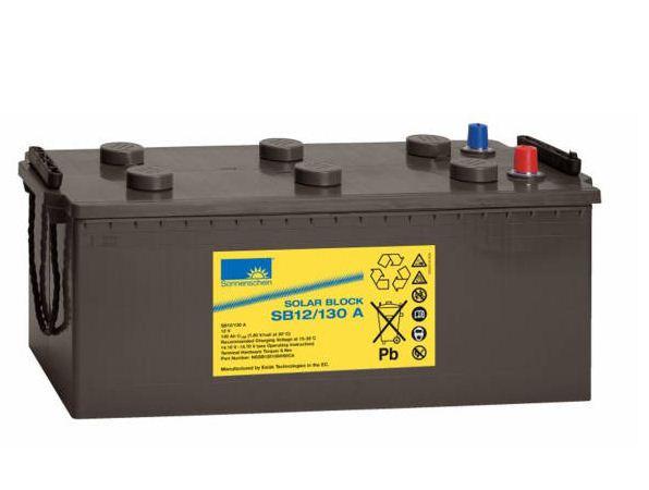 Exide Sonnenschein Solar Block SB12/130 A 12V 130 Ah (C100) dryfit loodgel accu/lood accu