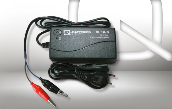 Q-Batteries BL 12-3 Charger voor lood accus 12V – 3A Charging current IU0U Charging character