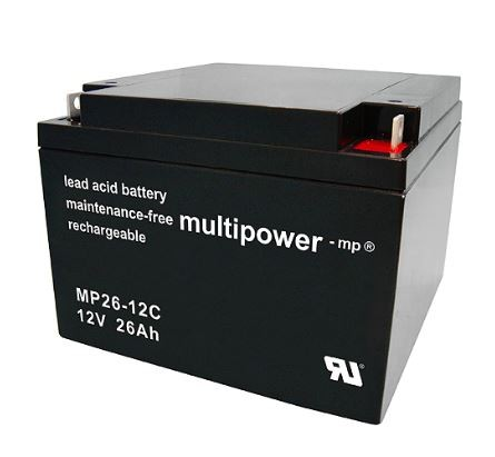 Multipower MP26-12C/12V 26 Ah lood batterij cyclus type