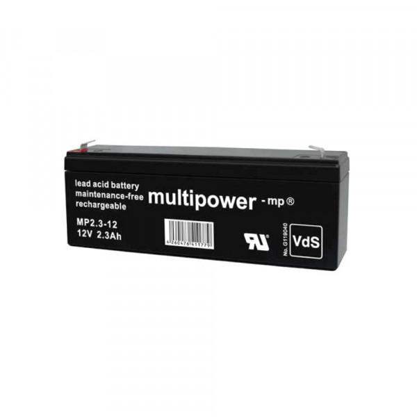 Multipower MP2,3-12/12V 2,3 Ah lood batterij AGM met VdS goedkeuring