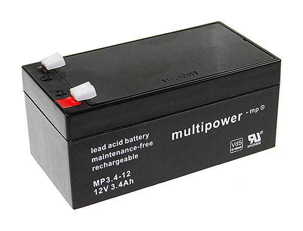 Multipower MP3,4-12/12V 3,4 Ah lood batterij VdS goedkeuring