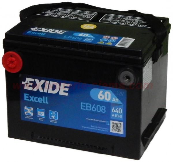 Exide EB558 Excell 12V 55Ah CCA620 EN auto accu