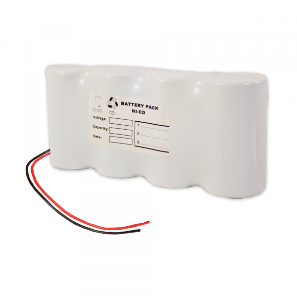 Batterijpakket 4.8V 4000mAh serie NiCd F4x1 4xD hoge temperatuurcellen/kabel