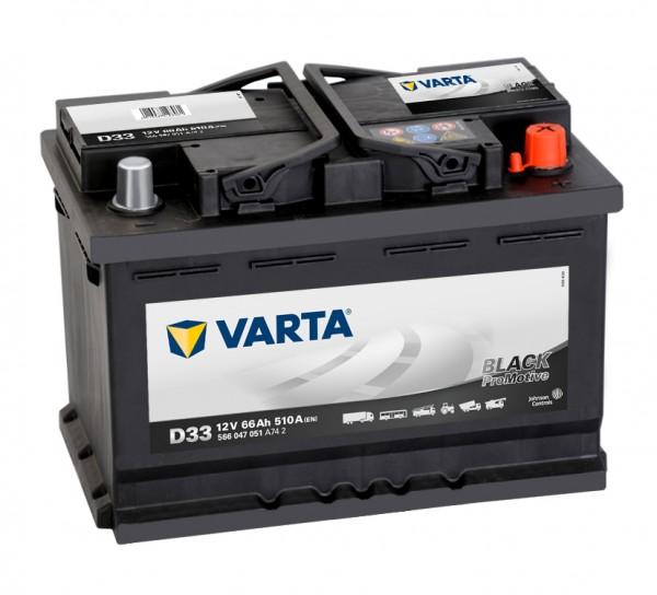VARTA Promotive HD 566 047 051 A742 D33 12Volt 66 Ah 510A/EN start accu