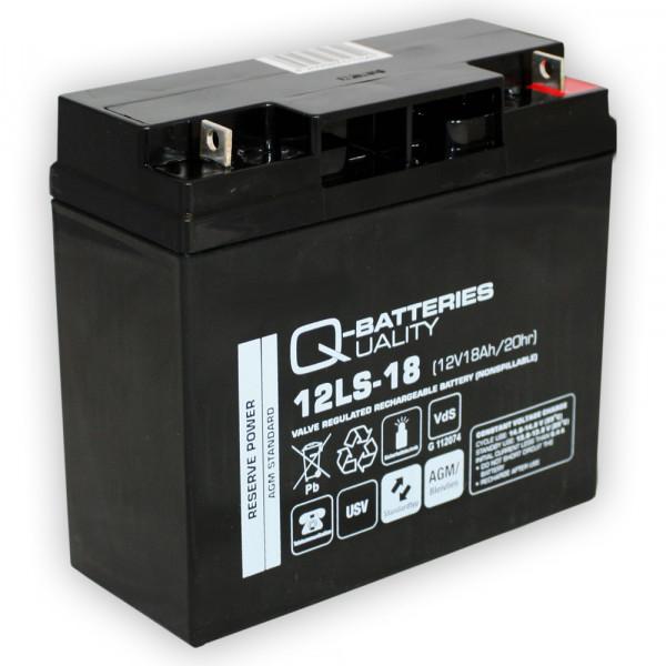 Q-Batteries 12LS-18 12V 18 Ah lood vlies batterij/AGM VRLA met VdS