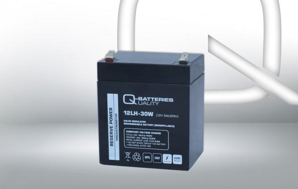 Q-Batteries 12LH-30 W 12V 5 Ah lood non spillable accu AGM VRLA Hoge stroom UPS