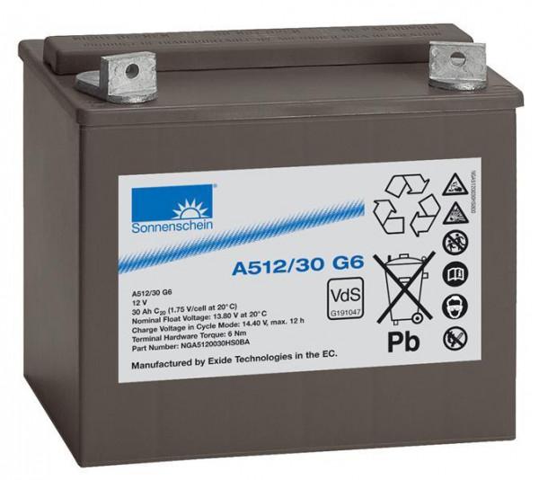 Exide sonnenschein A512/30 G6 VdS 12V 30 Ah dryfit loodgel accu VRLA