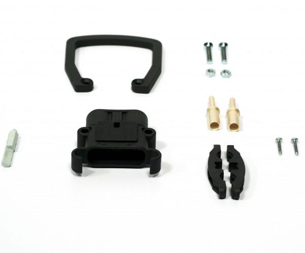REMA connector Euro Din 80A 25 mm² (handgreep, coderingspin grijs, hoofdcontact, stamverlichting)