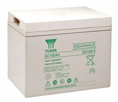 Yuasa EN160-6163 Ah (10u) 6V lood accu EN serie AGM accu