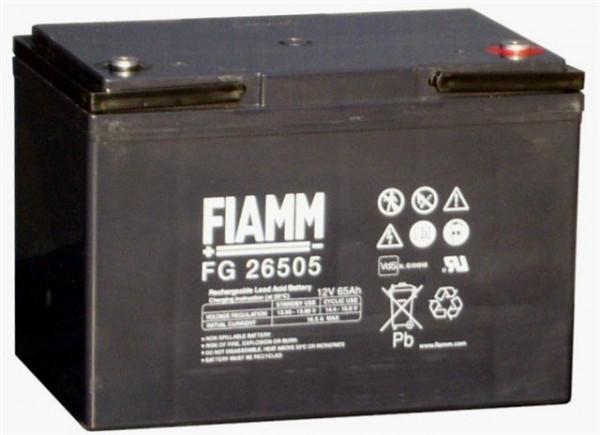 FIAMM FG26507 12V 65 Ah loodaccu/lood non spillable accu AGM VRLA met VdS (FG26505)