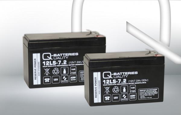 Vervangingsbatterij voor Aiptek Powerwalker VFI 1000 LE/brandbatterij met VdS