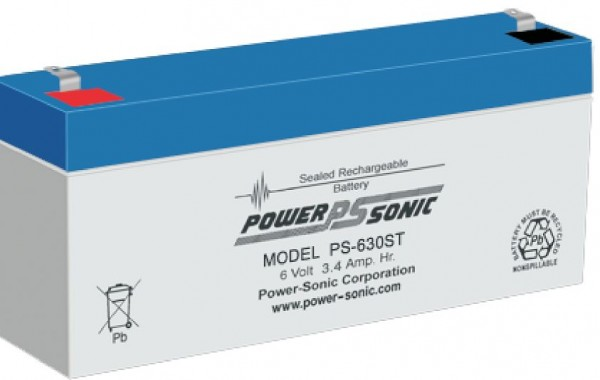 Powersonic 6V 3.4 Ah lood non spillable accu AGM PS 630ST