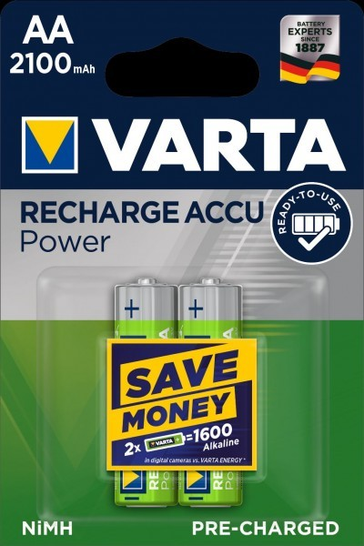 VARTA accu opladen Accu Power Mignon AA NiMH 2100mAh (2 Blister)