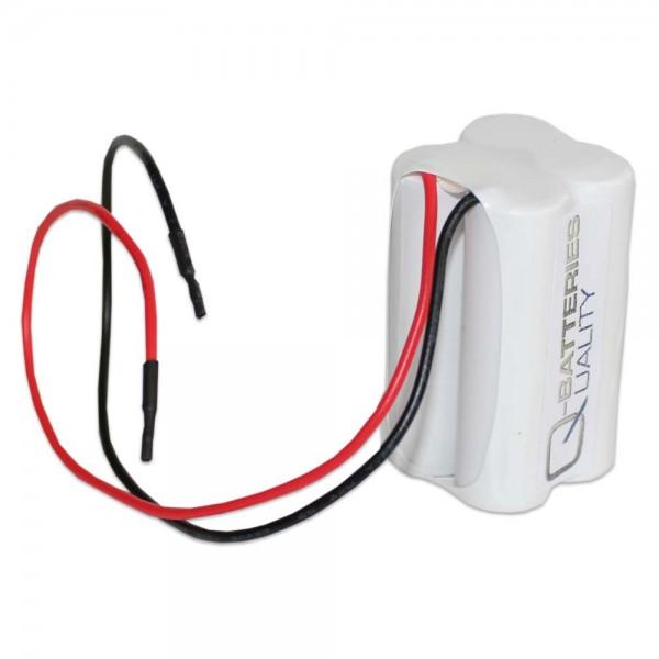 Batterij pack 4.8V 1500mAh Block NiCd F2x2 4xSub-C Hoge temperatuur cellen/kabel