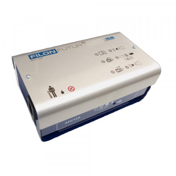 IEB Filon Futur S+ E230 G24/12 B70-FP (AC net) voor loden batterij 24V 12A laadstroom XLR stekker