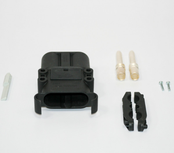 REMA connector Euro Din 320A 50 mm² (coderingspin grijs, hoofdcontact, belastingverlichting)