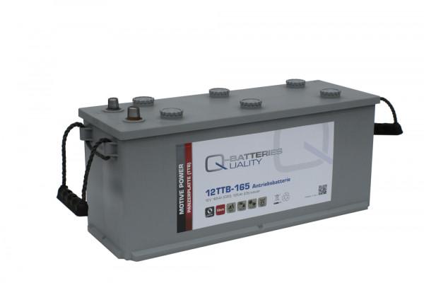 Q-Batteries 12TTB-165 12V 165 Ah (C20) gesloten blok batterij, positieve buisplaat