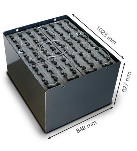 Q-Batteries 80V vorkheftruck accu 5 PzS 625 Ah DIN A (1023 * 849 * 627 mm L/B/H) caja de acero 57019
