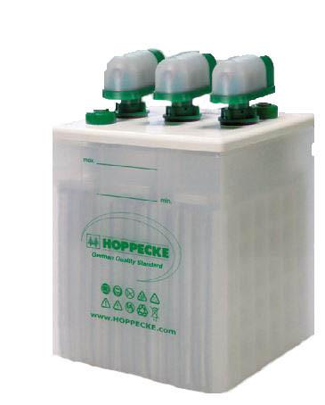 Hoppecke USV blok 1106 6V 124 Ah (10C) gesloten lood – blok batterij met vloeibare elektrolyt