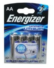 Energizer Ultimate Lithium L91 Mignon AA batterij (4 blister)