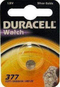 Duracell D 377 SR66 horloge knoopcel zilveroxide 28mAh 1.55V (1 blister)