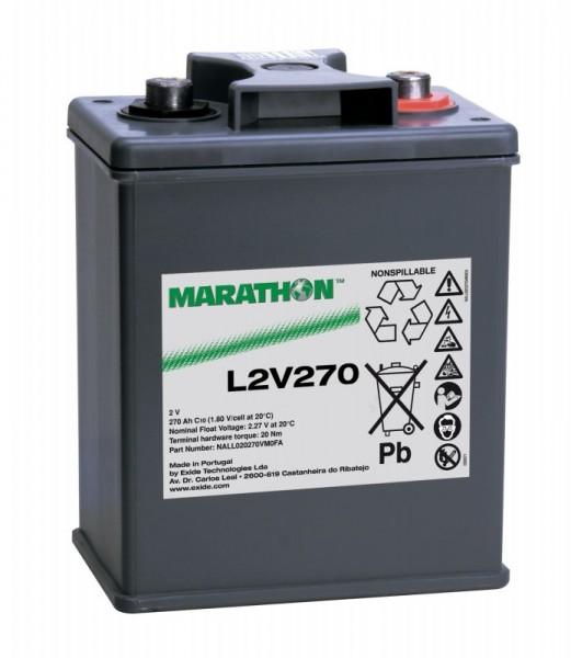 Exide Marathon L2V270 2V 270 Ah AGM loodaccu VRLA