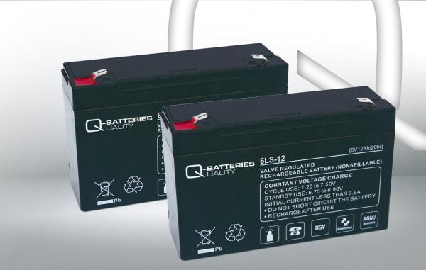 Vervangingsbatterij voor Beste Power Patriot SPS 650VA/brandbatterij met VdS