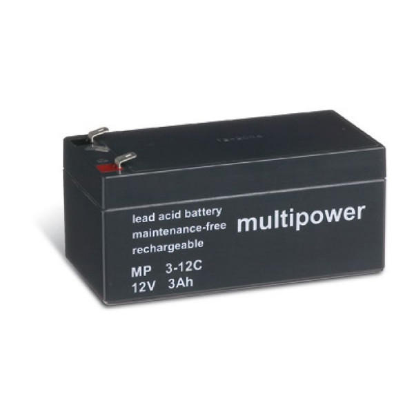 Multipower MP3-12C/12V 3 Ah lood batterij cyclus type
