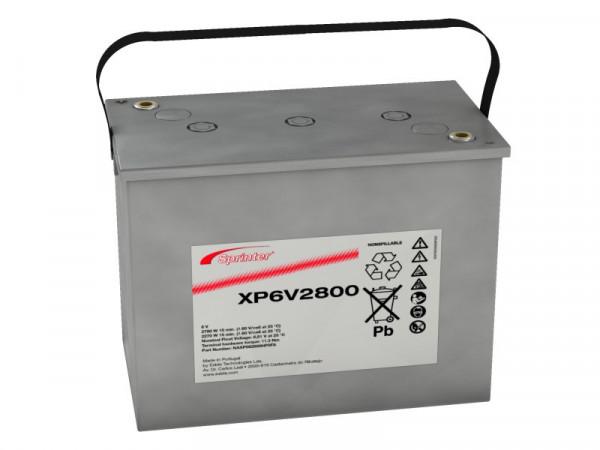 Exide Sprinter XP6V2800 6V 195 Ah lood AGM accu