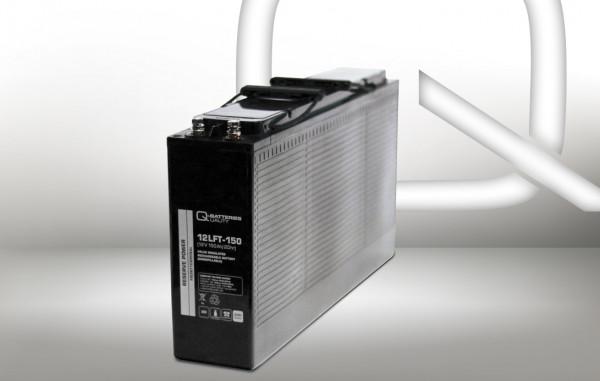 Q-Batteries 12LFT-150 12V 150 Ah AGM frontterminal lood accu 10 jaar type VRLA